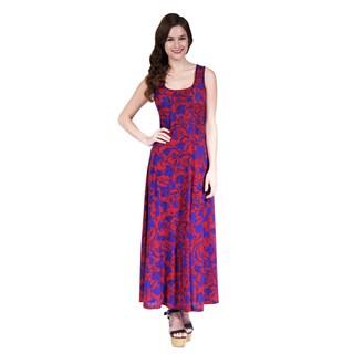 24/7 Comfort Apparel Women's Antique Floral Print Tank Dress