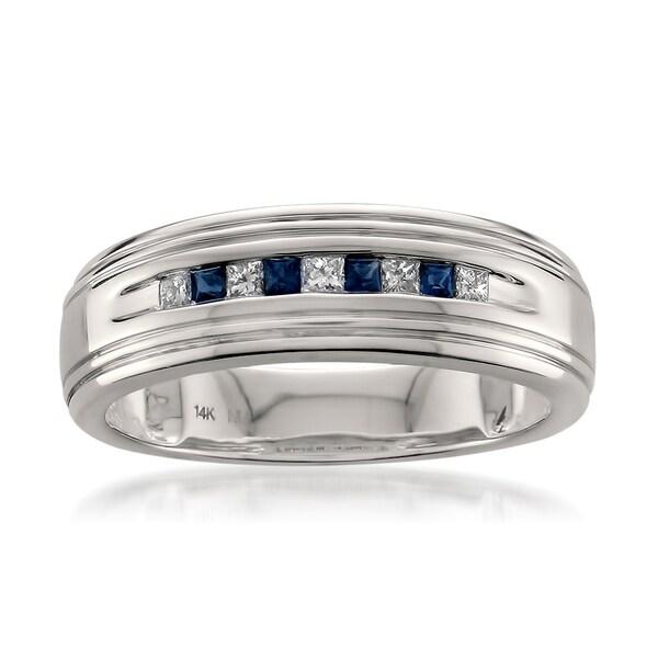Mens Wedding Band Sapphire 9 Spectacular