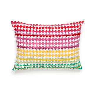 Collier Campbell English Bloom Felt Triangle Decorative Pillow