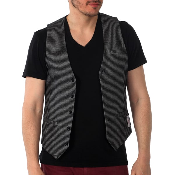 Something Strong Skinny Fit Striped Vest