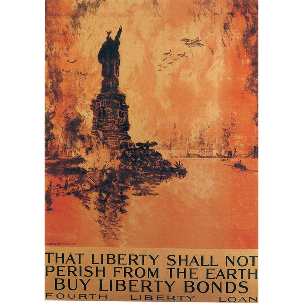Marmont Hill Art Collective 'Liberty Shall Not Perish' Canvas Art