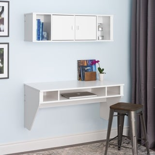 SOHO White Desk and Hutch Set