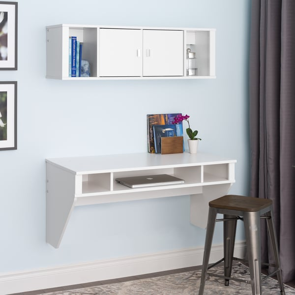 SOHO White Desk and Hutch Set 15110588