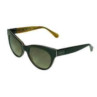 Kenneth Cole Women's KC7124 05F Brown/ Black Cat Eye Sunglasses