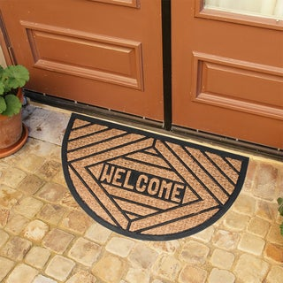 Rubber and Natural Coir Slice Welcome Doormat (1'6 x 2'6)