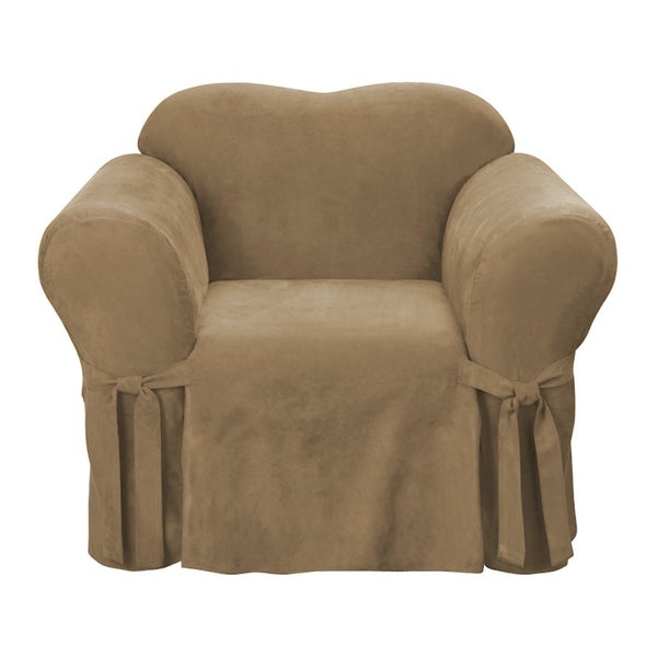 Easy Fit Microsuede Chair Slipcover
