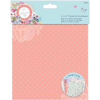 Papermania Bellissima Foiled Cards W/Envelopes 6inX6in 12/Pkg