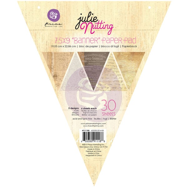 Julie Nutting Mixed Media Banner Pad