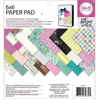 "We R Memory Keepers Paper Pad 6""X6"" 24/Pkg-Hello Darling"