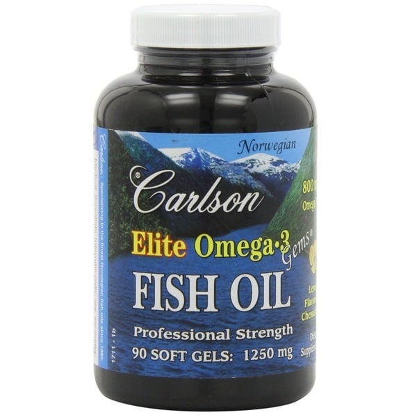 Carlson Elite Omega-3 Fish Oil 1250 mg (90 Softgels)