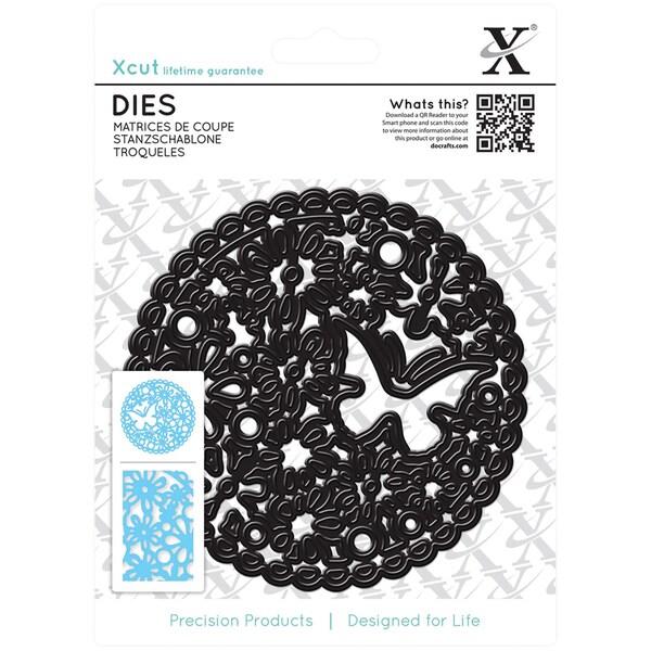 Xcut Die-Floral Cluster Circle