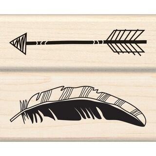 """Inkadinkado Mounted Rubber Stamp Set 2.75""""X2.25""""-Feather Arrow"""