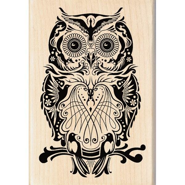 """Inkadinkado Mounted Rubber Stamp 2.75""""X4""""-Mindscape Owl"""
