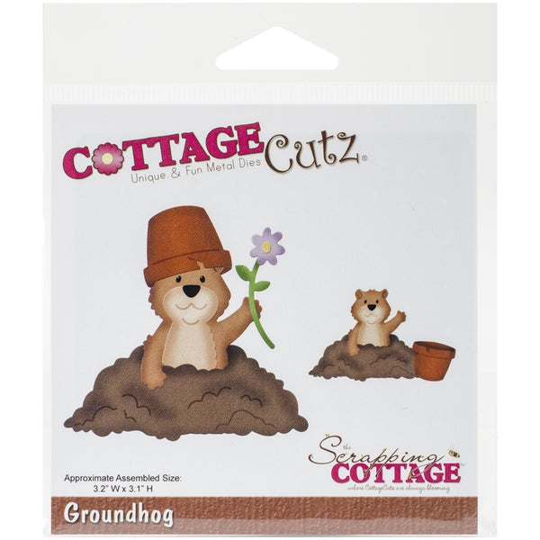 "CottageCutz Die-Groundhog 3.2""X3.1"""