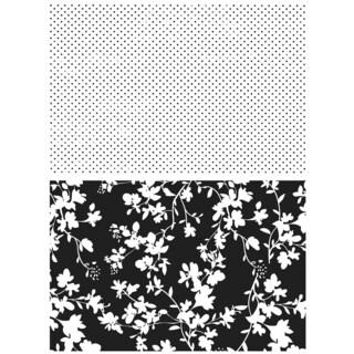 "Tim Holtz Cling Rubber Stamp Set 7""X8.5""-Dots & Floral"
