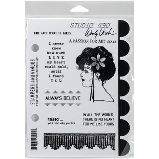 Wendy Vecchi Cling Rubber Stamp -A Passion For Art