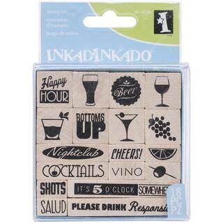 "Inkadinkado Mounted Stamp Set 3""X3""-Cheers"
