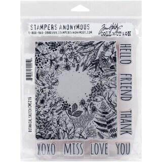 """Tim Holtz Cling Rubber Stamp Set 7""""X8.5""""-Botanical Sketch"""