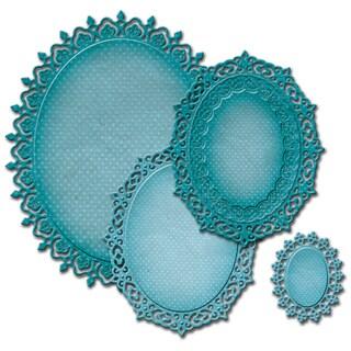 Spellbinders Nestabilities Decorative Elements Dies-Oval Majesty