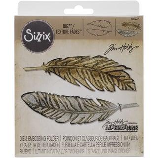 Sizzix Bigz Die W/A2 Texture Fades Folder By Tim Holtz-Feather Duo