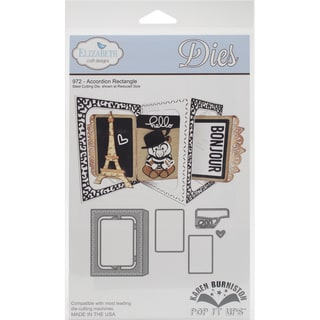 Elizabeth Craft Pop It Up Metal Dies By Karen Burniston-Accordian Rectangle