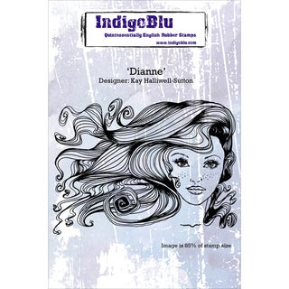 "Indigoblu Cling Mounted Stamp 7""x4.75"" -Dianne"