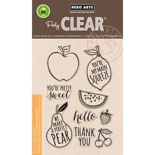 """Hero Arts Clear Stamps 4""""X6"""" Sheet-Stamp Your Own Fruit"""