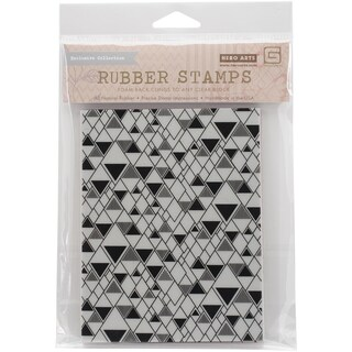 Basic Grey Prism Cling Stamps By Hero Arts-Triangle Background