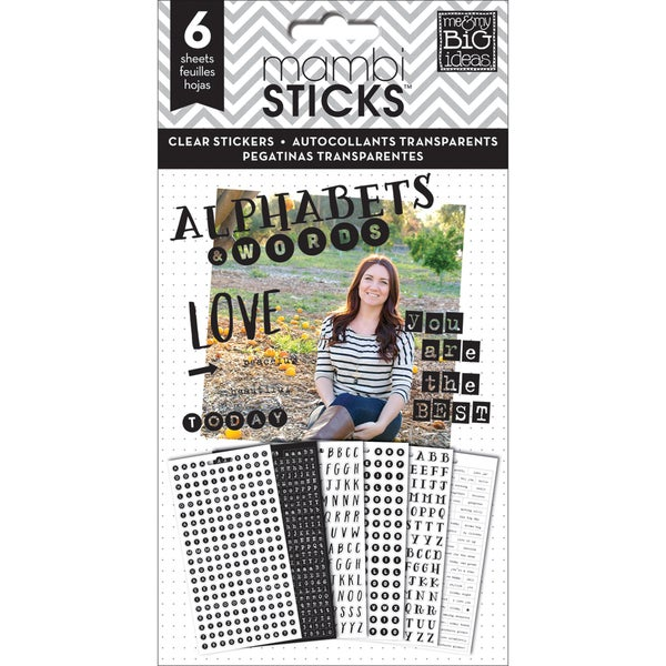 Me & My Big Ideas Pocket Pages Clear Stickers 6 Sheets/Pkg-Alpha Words - You Are The Best