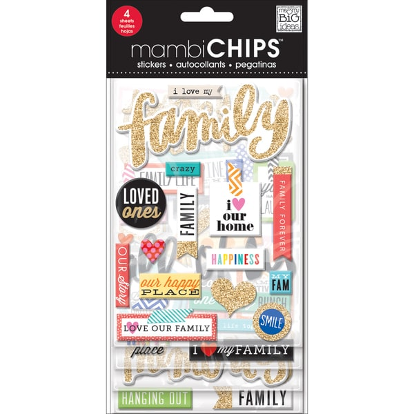 Chipboard Value Pack-I Love My Family