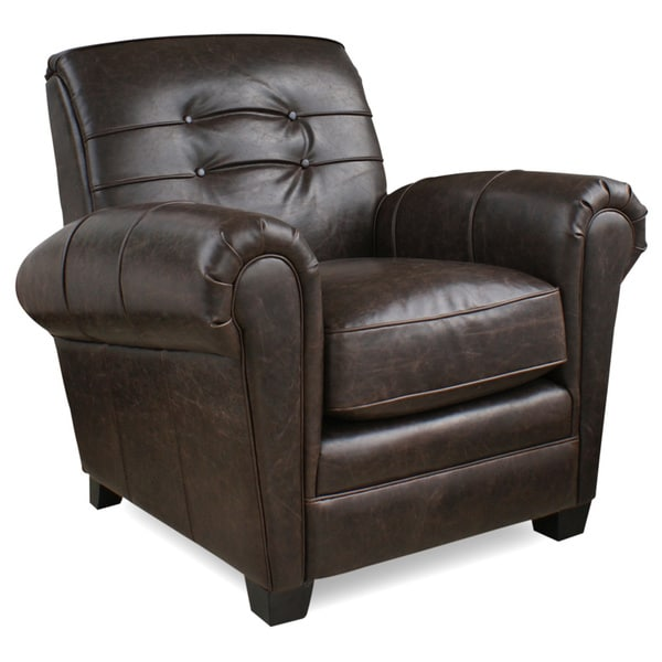 Aaron Brompton Cocoa Bonded Leather Press-back Chair