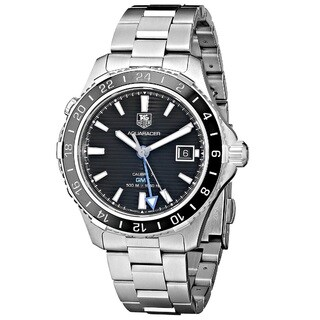 Tag Heuer Men's WAK211A.BA0830 'Aquaracer Calibre 7 GMT' Stainless Steel Watch