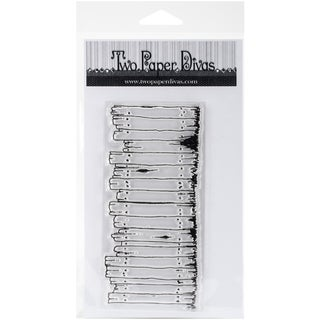 "Two Paper Divas Clear Stamps 8.5""X4.5""-Weathered Fence"