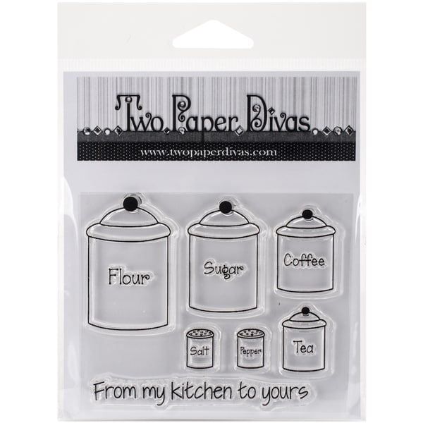 "Two Paper Divas Clear Stamps 6""X4.5""-From My Kitchen To Yours"