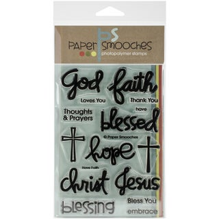 """Paper Smooches 4""""X6"""" Clear Stamps-Have Faith"""