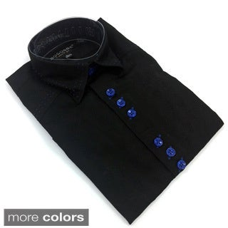 Bogosse Boy's Black Embellished Button Down Shirt