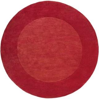 Surya Hand-Loomed Belper Solid Wool Rug (6' Round)