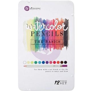 Prima Mixed Media Watercolor Pencils 12/Pkg-The Basics