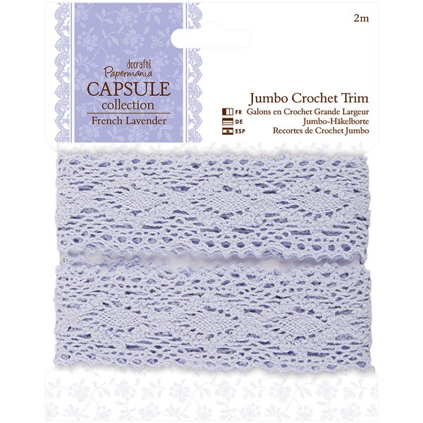 Papermania French Lavender Jumbo Crochet Trim 2m