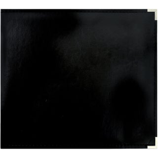 "Leather D-Ring Album 12""X12""-Black"
