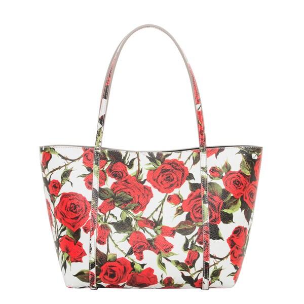 Dolce & Gabbana Medium Dauphine Rose Print Tote