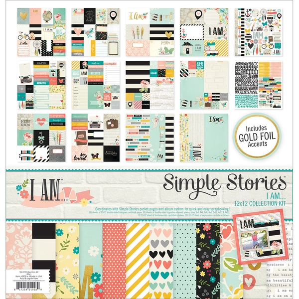 "Simple Stories Collection Kit 12""X12""-I Am"
