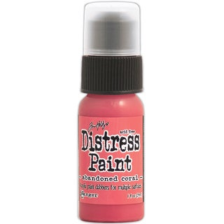 Tim Holtz Distress Paint 1oz Bottle-February-Abandoned Coral