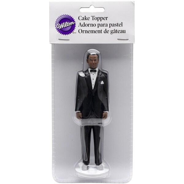 Cake Topper Groom W/Black Hair