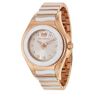 TechnoMarine Women's Blue Manta Rose Goldplated Stainless Steel Swiss Quartz Watch