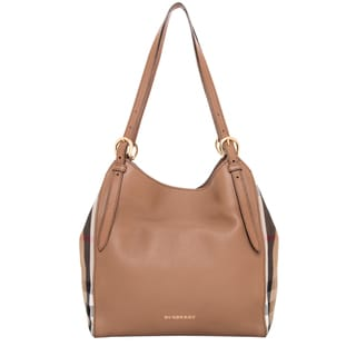 Burberry Small Canter in Leather and House Check