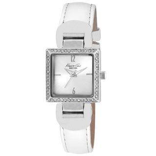 Kenneth Cole Women's 10021986 'Classic' White Leather Watch