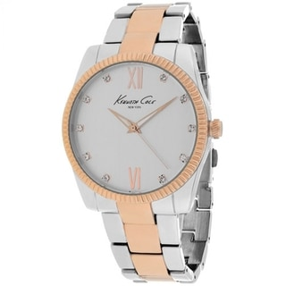 Kenneth Cole Women's KCW4035 'Classic' Two tone Stainless Steel Watch