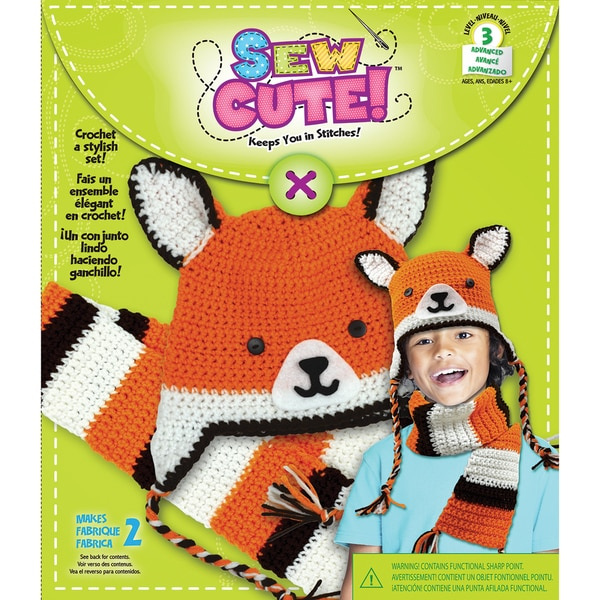 Sew Cute Crochet Fox Hat & Scarf