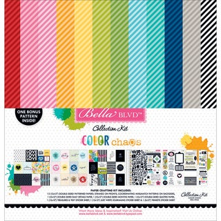 """Bella Blvd Collection Kit 12""""X12""""-Color Chaos"""